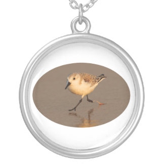 Sand Piper Running on Beach Necklaces
