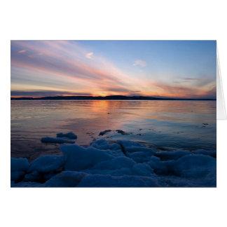 Sand Point Sunset Card