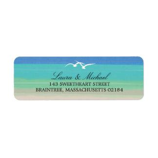 Sand, Sea and Seagulls | Return Address Return Address Label