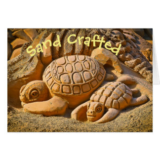 Sand Sea Turtle Card