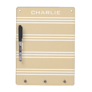 Sand Stripes custom monogram message board Dry Erase Board