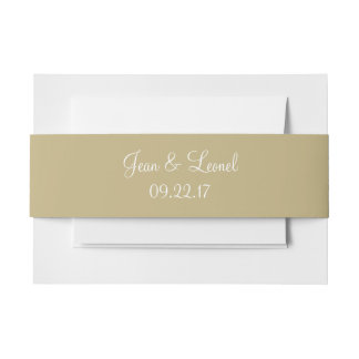 Sand Stylish Color Invitation Belly Band