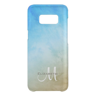 sand surf and sky abstract seaside monogrammed get uncommon samsung galaxy s8 case