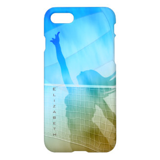 Sand surf and sky women's beach volleyball iPhone 7 case