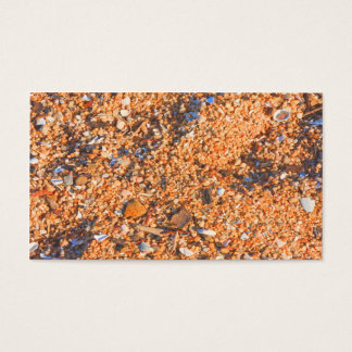Sand texture in the morning light business card