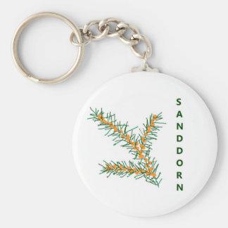 Sand thorn basic round button key ring