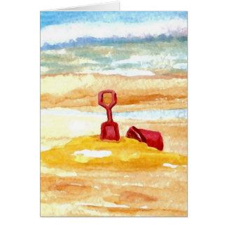 Sand Toys - Sand Castle Building on the Beach Card