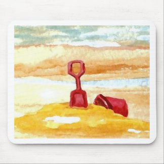 Sand Toys - Sand Castle Building on the Beach Mouse Pads