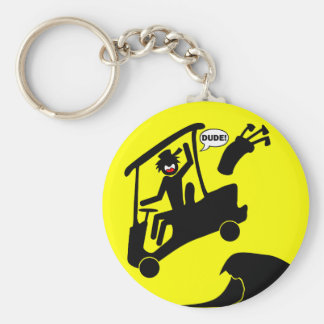 Sand trap DUDE-4 Basic Round Button Key Ring