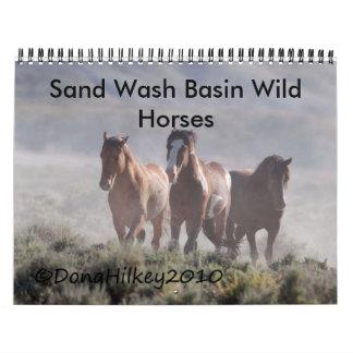 Sand Wash Basin Wild Horse Calander Wall Calendar