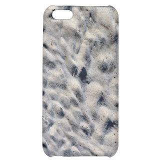 Sand with foots texture cover for iPhone 5C