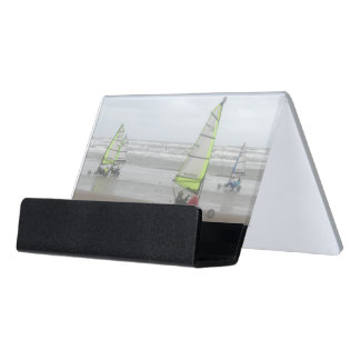 Sand Yachting Desk Business Card Holder