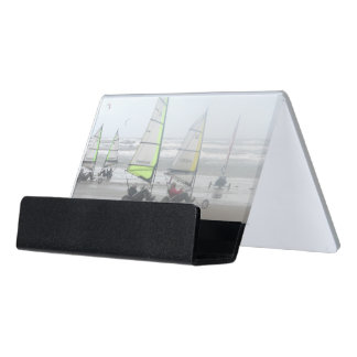 Sand Yachting Group Desk Business Card Holder