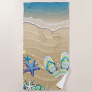 Sandal Beach Beach Towel
