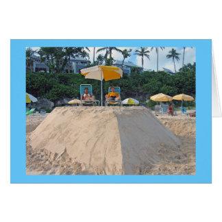 sandcastle card