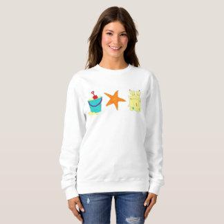 Sandcastle Sand Castle Starfish Pail Beach Ocean Sweatshirt