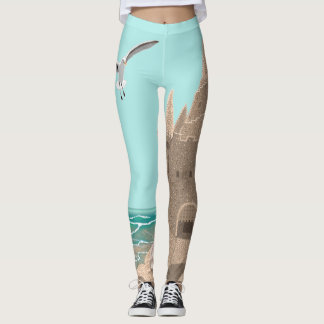 Sandcastle Seagull leggings