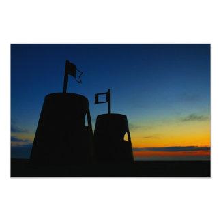 Sandcastles At Dawn (photo print) Photo Print