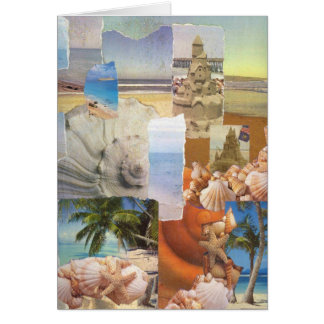 Sandcastles by the sea collage card