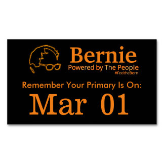Sanders 2016 Powered by The People Magnetic Business Cards