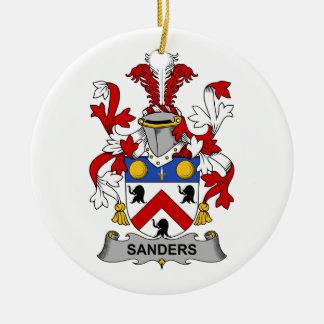 Sanders Family Crest Ceramic Ornament