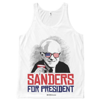 Sanders For President - Party Animal - Political H All-Over Print Singlet