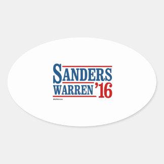 Sanders Warren 2016 Oval Sticker