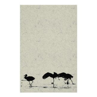 Sandhill Crane Birds Wildlife Animals Customized Stationery