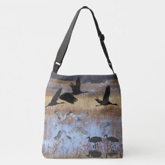 Sandhill Crane Birds Wildlife Animals Shoulder Bag