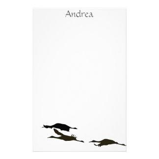 Sandhill Crane Birds Wildlife Animals Stationery Design
