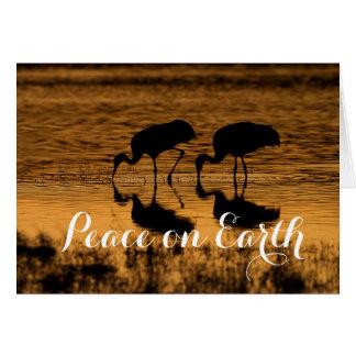 Sandhill Cranes, Peace on Earth Card