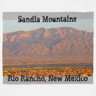 Sandia Mountains Bernalillo New Mexico Fleece Blanket
