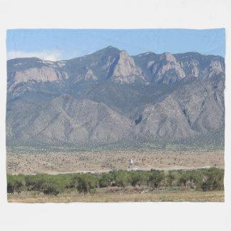 Sandia Mountains, Bernalillo, New Mexico Fleece Blanket