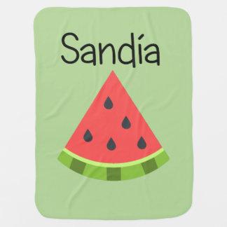 Sandia (Watermelon) Baby Blanket