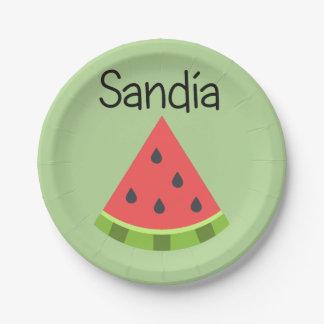 Sandia (Watermelon) Paper Plate