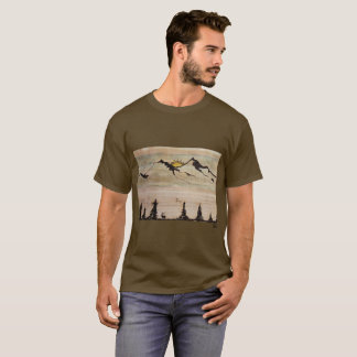 Sandie G Mens mountain t-shirt