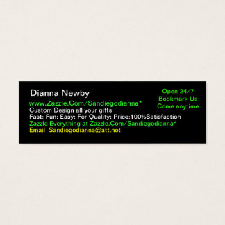 Sandiegodianna Black and Gold Skinny Business Card