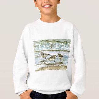 Sandpiper birds beach watercolor sweatshirt