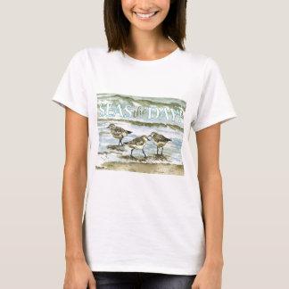Sandpiper birds beach watercolor T-Shirt