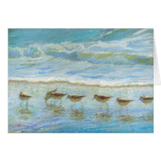 Sandpipers, A Day at the Beach Card