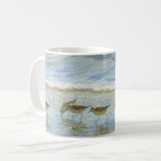 Sandpipers, A Day at the Beach Coffee Mug