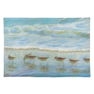 Sandpipers, A Day at the Beach Placemat