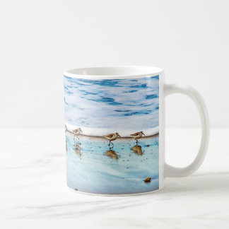 Sandpipers Running Along The Beach Coffee Mug