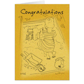 Sandpit - Congratulations w/text Greeting Card