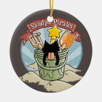 Sandpit Pirates Round Ceramic Decoration