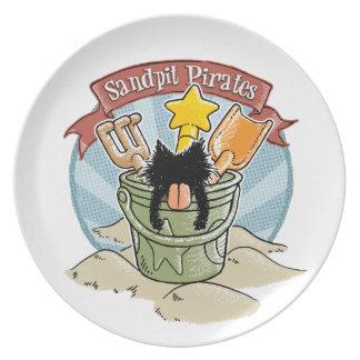 Sandpit Pirates Dinner Plates