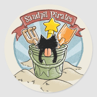 Sandpit Pirates Round Sticker