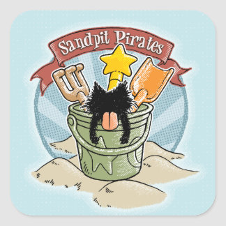 Sandpit Pirates Square Sticker