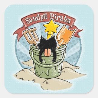 Sandpit Pirates Square Sticker