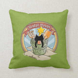 Sandpit Pirates Throw Pillow